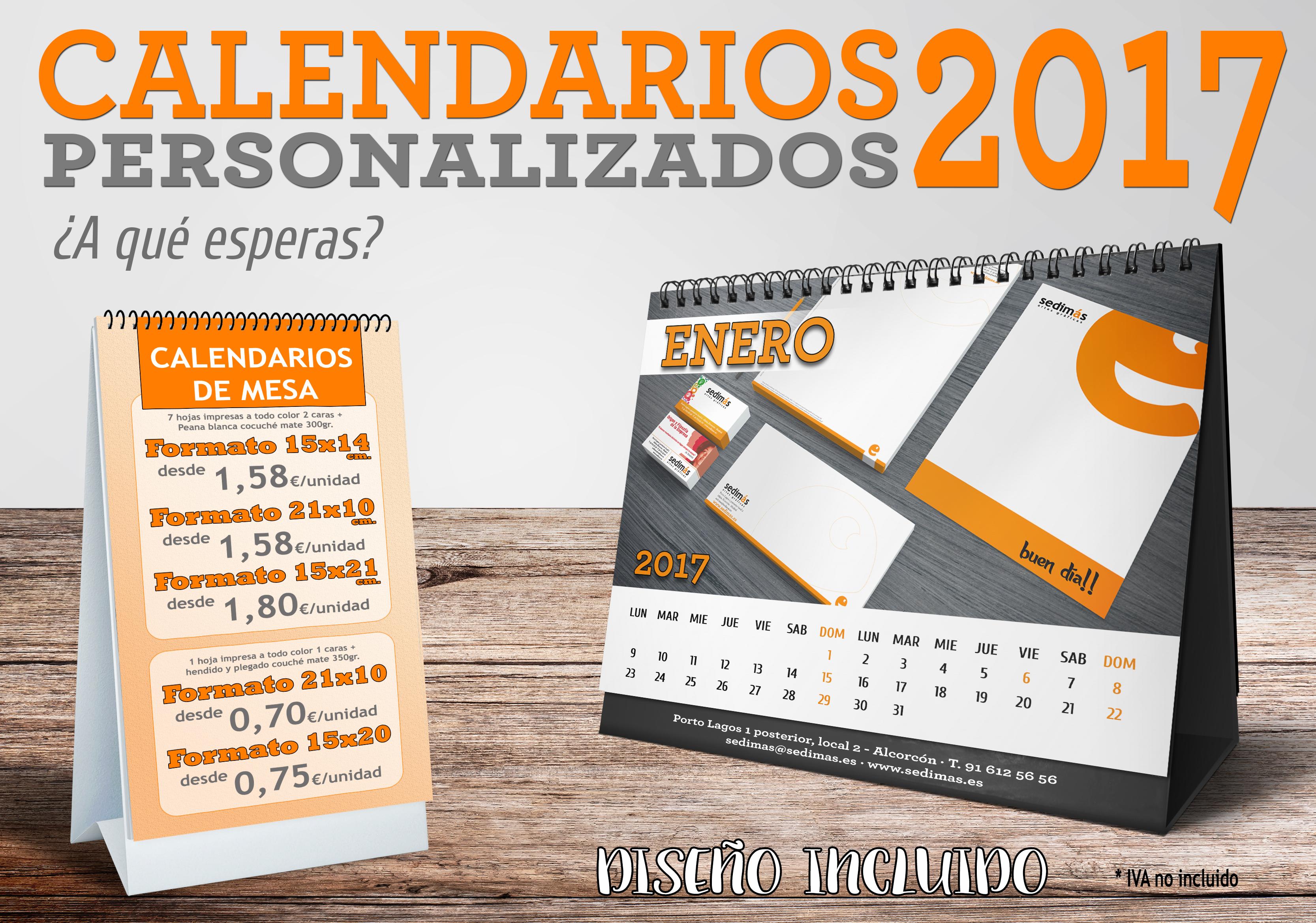 calendarios promocion