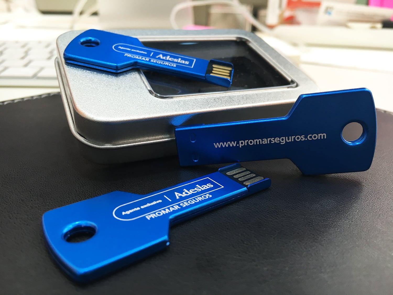 MEMORIAS USB - ADESLAS. PROMAR GRABADO LÁSER